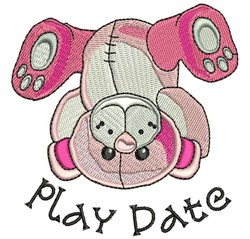 Play Date embroidery design