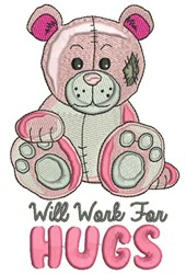 Work For Hugs embroidery design