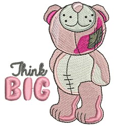 Think Big embroidery design