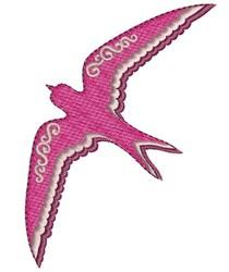 Pink Bird embroidery design
