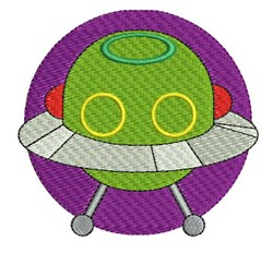 Space Ship embroidery design