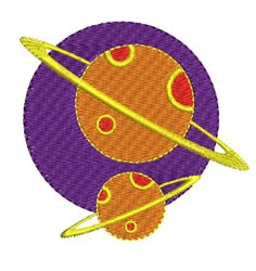 Planets embroidery design