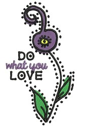 Do What You Love embroidery design