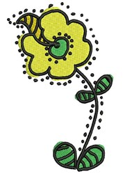 Abstract Daisy embroidery design