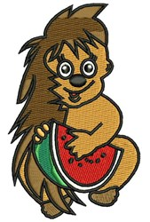 Watermelon Porcupine embroidery design