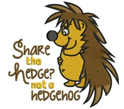 Share the Hedge embroidery design