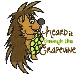 Heard It Through The Grapevine embroidery design