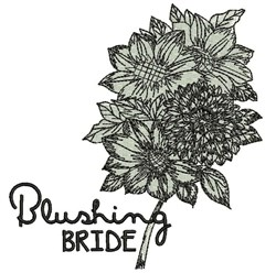 Blushing Bride embroidery design