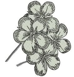 Geranium embroidery design