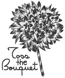 Toss The Bouquet embroidery design