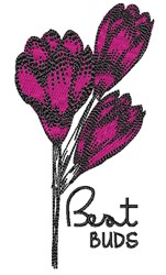 Bent Buds embroidery design