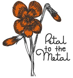 Petal To Metal embroidery design