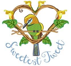 Sweetest Tweet embroidery design