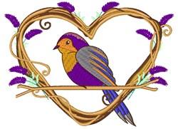 Lavender Bird embroidery design