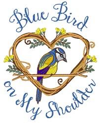 Bird On My Shoulder embroidery design