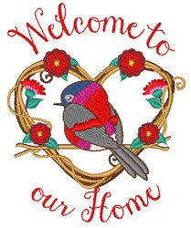 Welcome To Home embroidery design