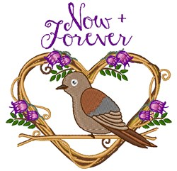 Now + Forever embroidery design