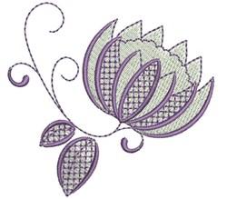 Retro flower embroidery design