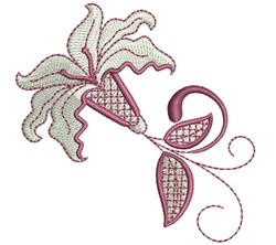 Swirly Lily embroidery design