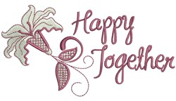 Happy Together embroidery design