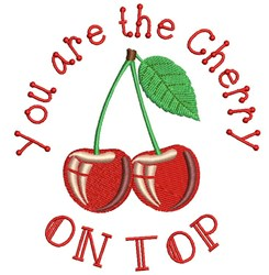 You Are The Cherry On Top embroidery design