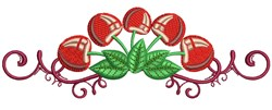 Cherry Border embroidery design