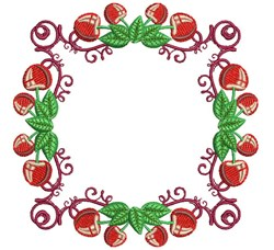Cherry Frame embroidery design