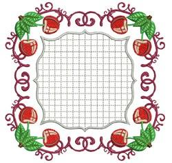 Cherry Square embroidery design