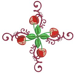 Cherry Swirl embroidery design