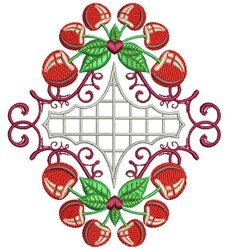 Quilt Cherries embroidery design