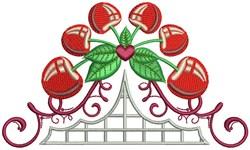 Cherry Embellishment embroidery design