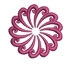 Swirl Mandala embroidery design
