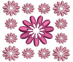 Daisy Block embroidery design
