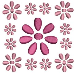 Daisy Quilt Block embroidery design