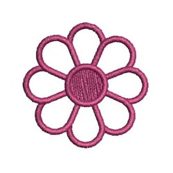 Red Daisy embroidery design
