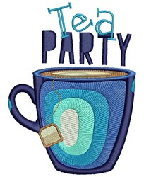 Tea Party embroidery design