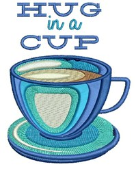 Hug In A Cup embroidery design