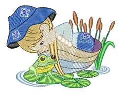 Boy On Boat embroidery design