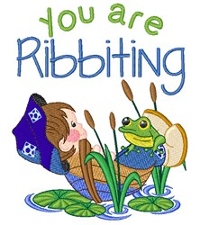 You Are Ribbiting embroidery design