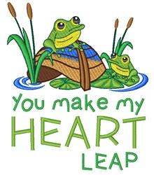 My Heart Leap embroidery design