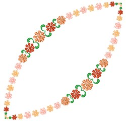 Floral Garland embroidery design