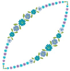Blue Garland embroidery design