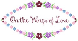 Wings Of Love embroidery design