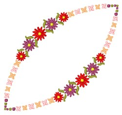 Red Garland embroidery design