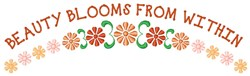 Beauty Blooms embroidery design