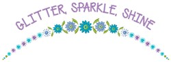 Glitter Sparkle embroidery design