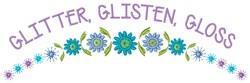 Glitter Glisten embroidery design