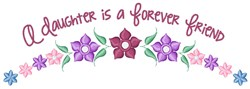 Daughter Friend embroidery design