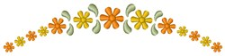 Garland Flowers embroidery design