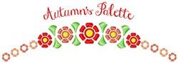 Autumn Palette embroidery design